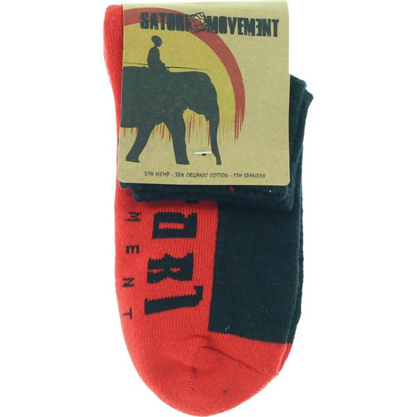 Satori Movement Half Link Black Ankle Socks - Large