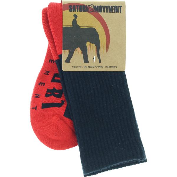 Satori Movement Half Link Black Crew Socks - Large