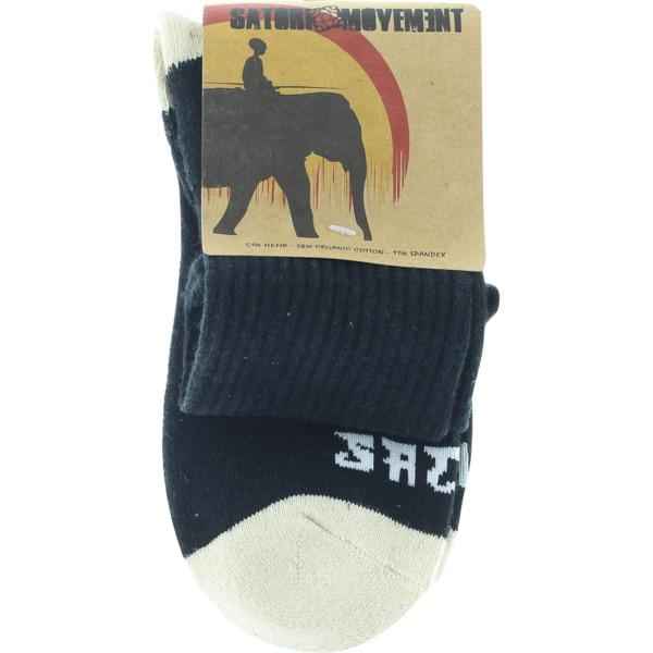 Satori Movement Warrior Black Crew Socks - Small