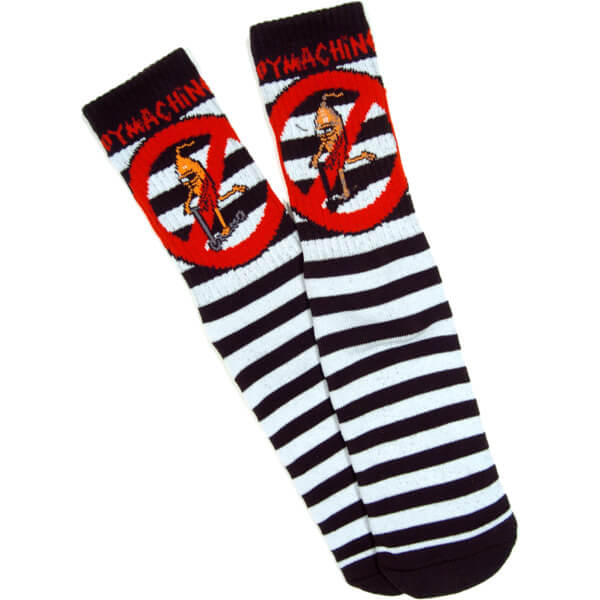 Toy Machine Skateboards No Scooter Black / White Crew Socks - One size fits most