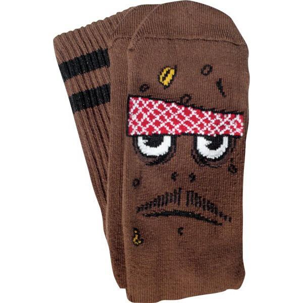 Toy Machine Skateboards Poo Poo Head Crew Socks