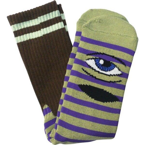 Toy Machine Sect Eye Stripe Mens Crew Socks