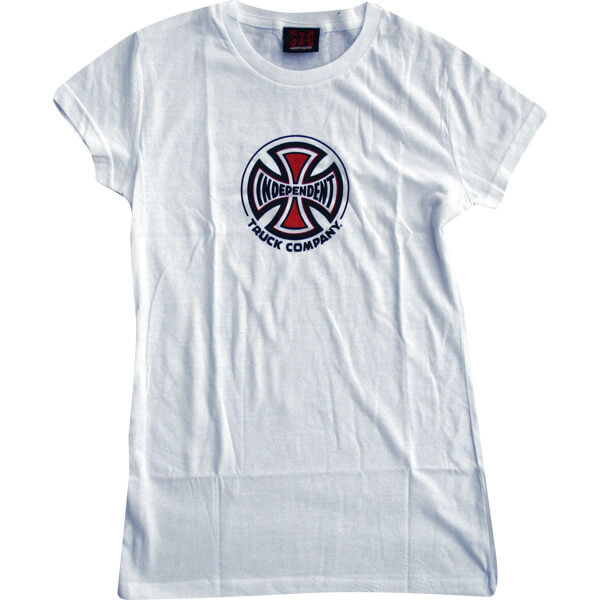 Independent Logo White Boys Youth Short Sleeve T-Shirt - Youth Medium