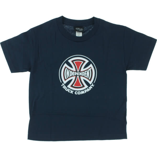 Independent Logo Navy Boys Youth Short Sleeve T Shirt