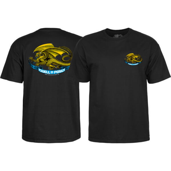 Powell Peralta Oval Dragon Black Boys Youth Short Sleeve T-Shirt - Youth Large