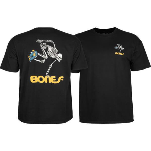 Powell Peralta Skateboard Skeleton Black Boys Youth Short Sleeve T-Shirt - Youth Large