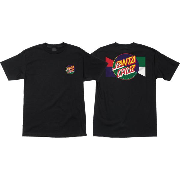 Santa Cruz Skateboards Dot Blocker Black Boys Youth Short Sleeve T-Shirt - Youth X-Large