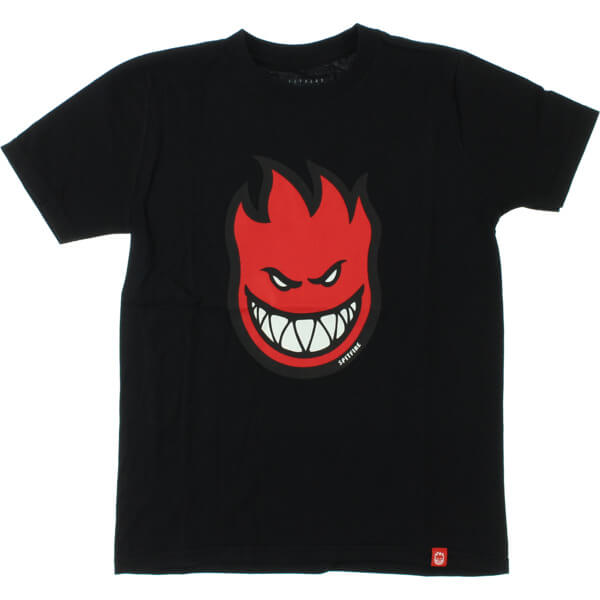 Spitfire Wheels Bighead Fill H.D. Black / Red Boys Youth Short Sleeve T-Shirt - Youth Medium