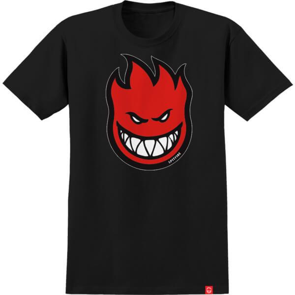 Spitfire Wheels Bighead Fill Black / Red Boys Youth Short Sleeve T-Shirt - Youth Medium
