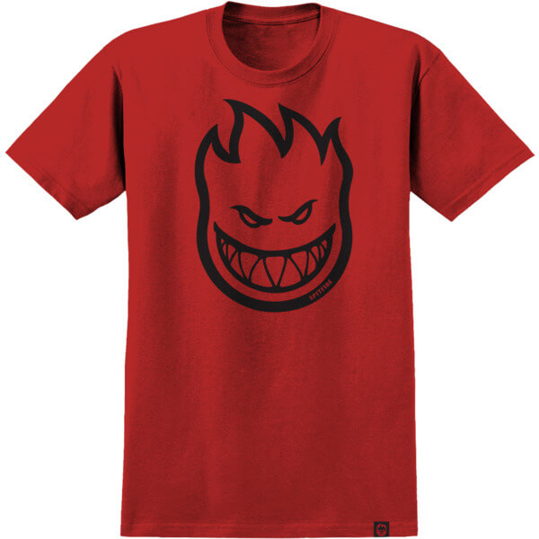Spitfire Wheels Bighead HD Red / Black Boys Youth Short Sleeve T-Shirt - Youth Large