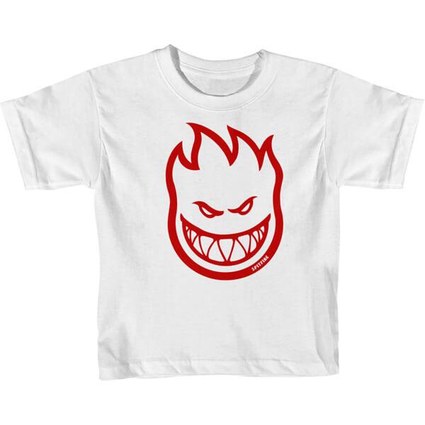 Spitfire Wheels Bighead White / Red Toddler Short Sleeve T-Shirt - 4T
