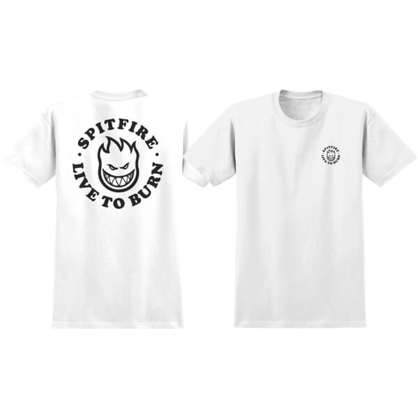 Spitfire Wheels LTB Bighead White Boys Youth Short Sleeve T-Shirt - Youth Large