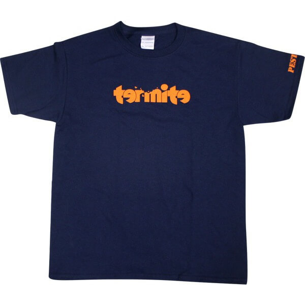 Termite Skateboards Logo Navy Youth T-Shirts - Youth Large