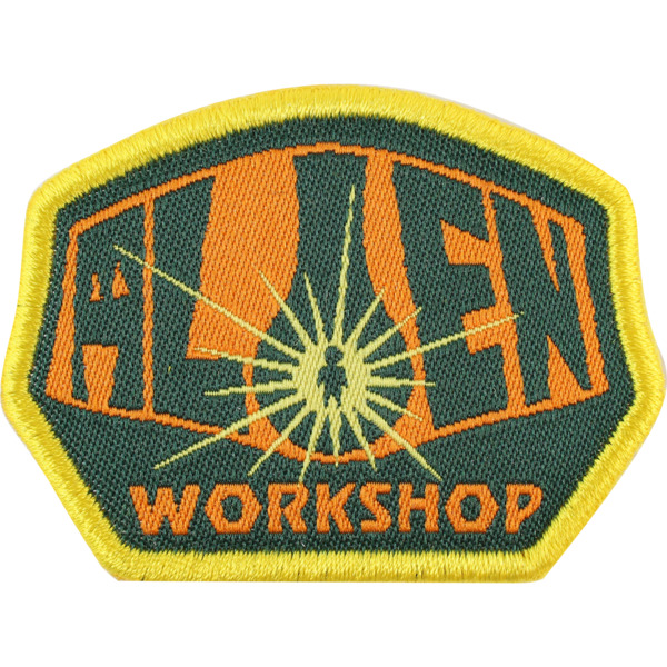 Alien Workshop OG Logo Orange / Black / Gold Patch