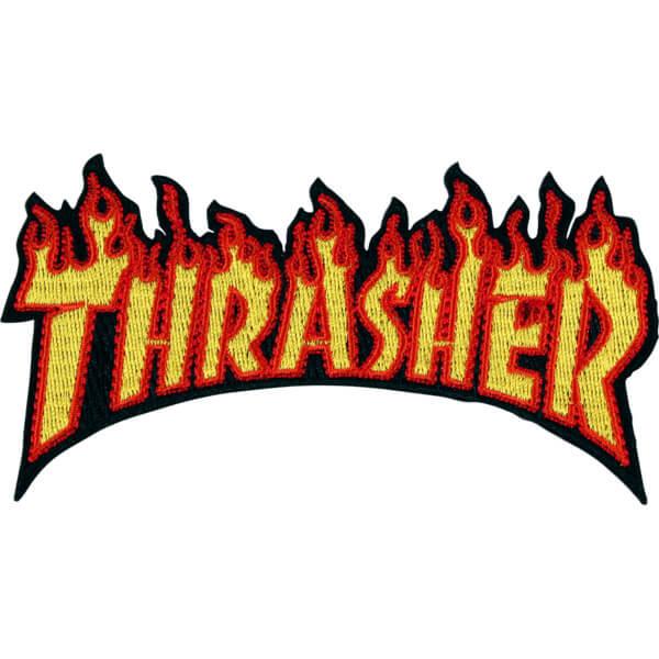 "Thrasher Magazine Flame Logo Yellow / Orange Patch - 2.4"" x 4.5"""