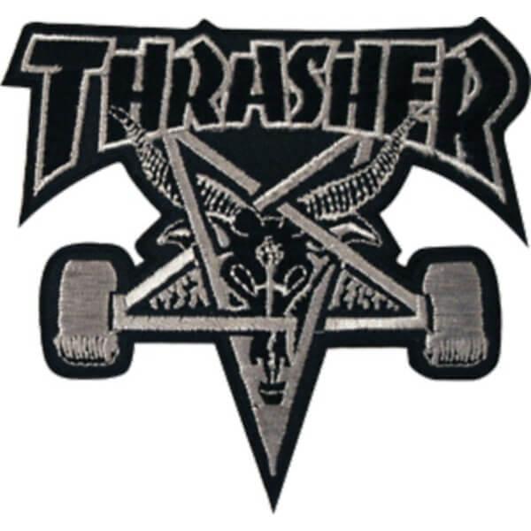 Thrasher Magazine Sk8 Goat Black Silver Patch