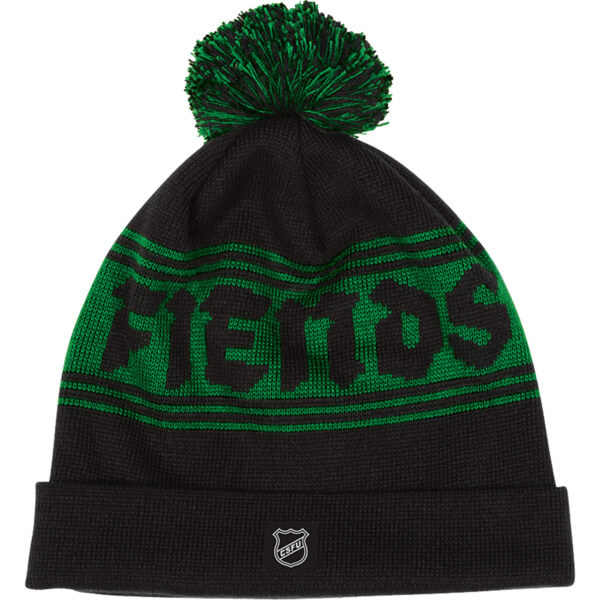 Creature Skateboards Fiendshot Black Green Pom Beanie