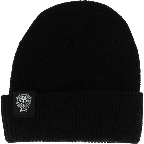 a60371cbd14 Dogtown Skateboards Cross Logo Black Beanie Hat - One size fits most -  Warehouse Skateboards