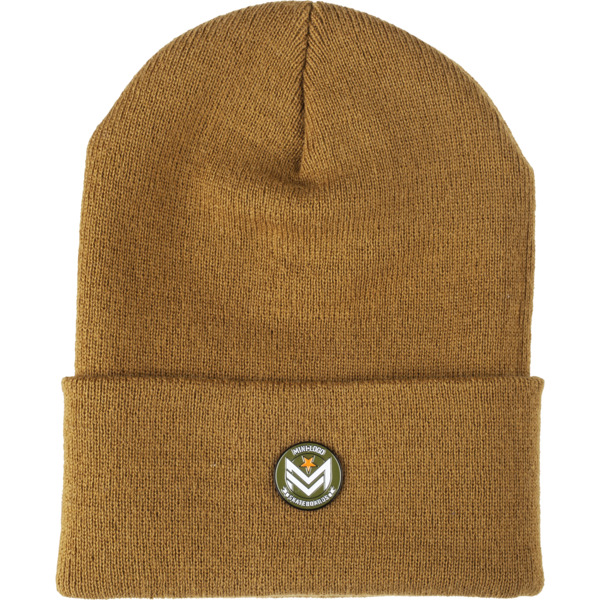 Mini Logo Chevron Pin Duck Brown Beanie Hat - One size fits most