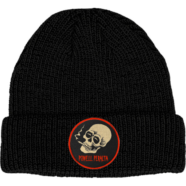 Powell Peralta Smoking Skull Black Beanie Hat
