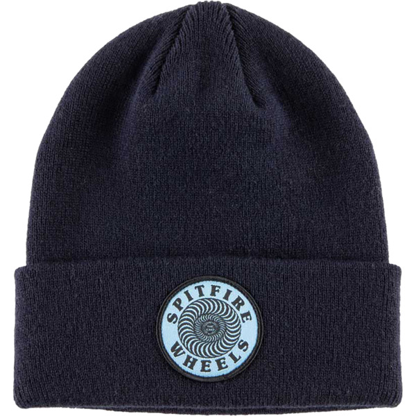 Spitfire Wheels OG Classic Swirl Navy / Light Blue Beanie Hat - One size fits most
