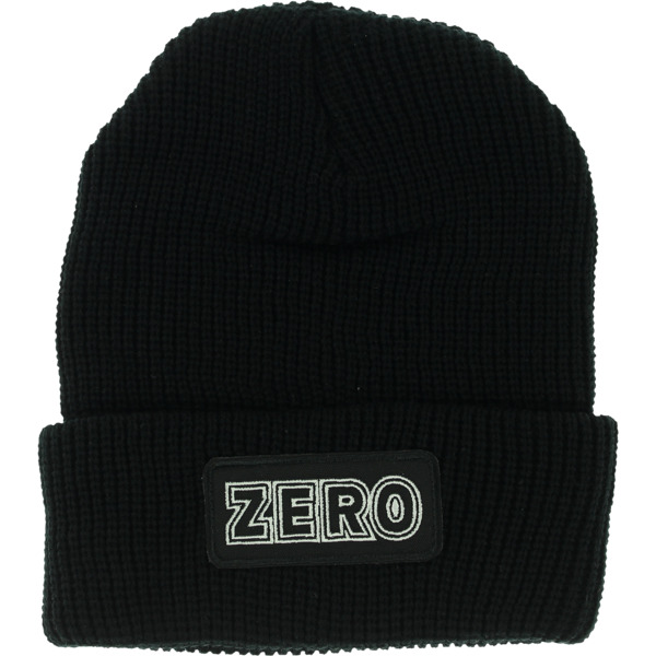 Zero Skateboards Bold Watchcap Black Beanie Hat - One size fits most