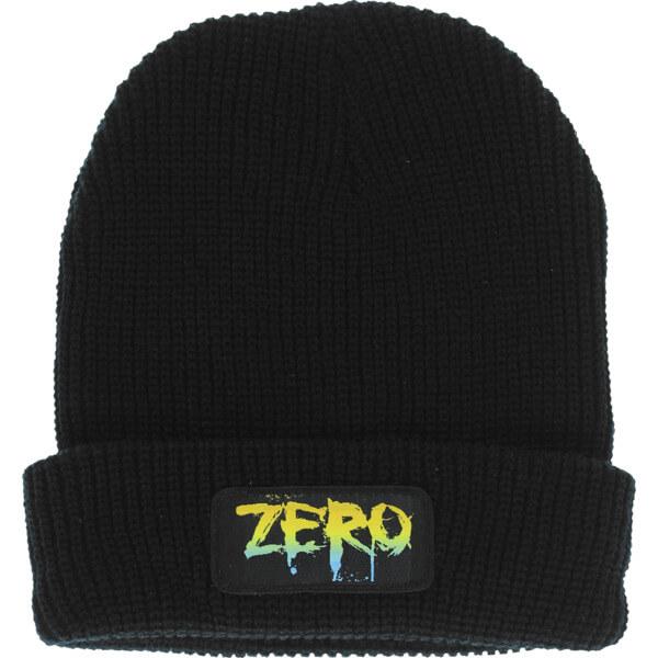Zero Skateboards Rainbow Patch Black Beanie Hat