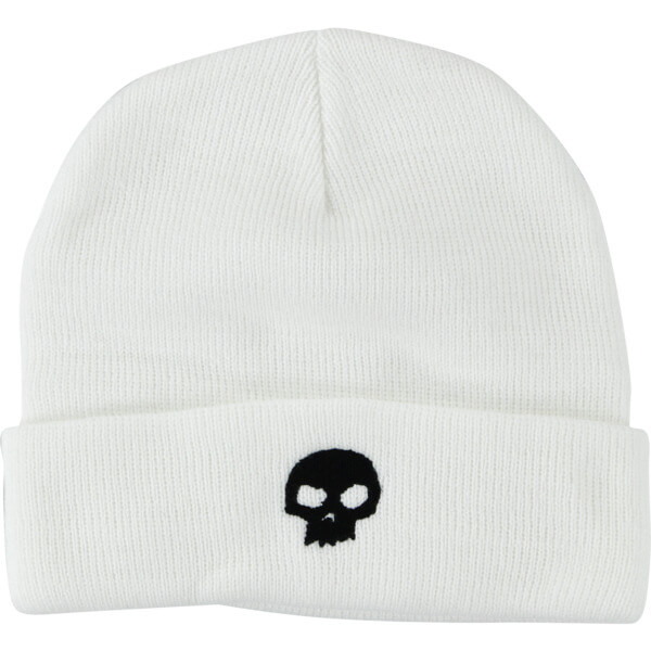 aa382e3f3af Zero Skateboards Skell White Beanie Hat - Warehouse Skateboards