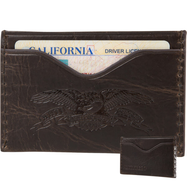 Anti Hero Skateboards Eagle Brown Card Holder Wallet