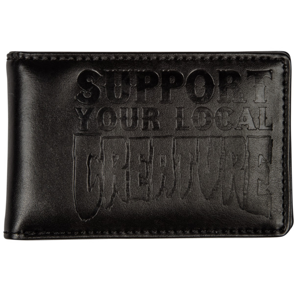 Creature Skateboards Support Your Local Creature Black Bi-Fold Wallet