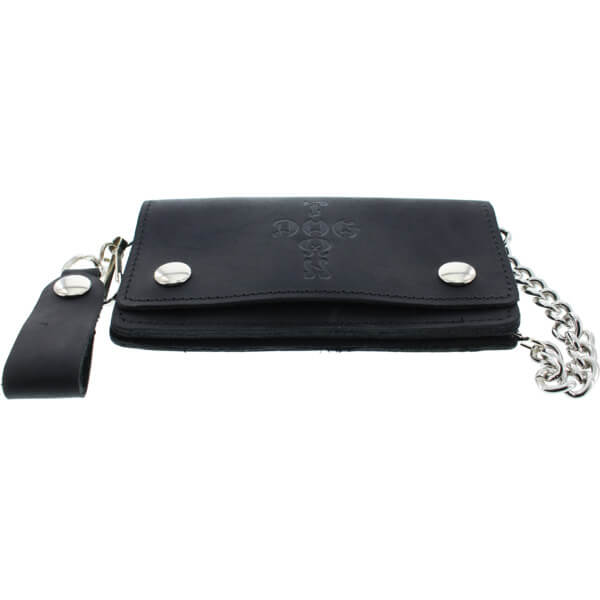 Dogtown Skateboards Cross Leather Black Chain Wallet