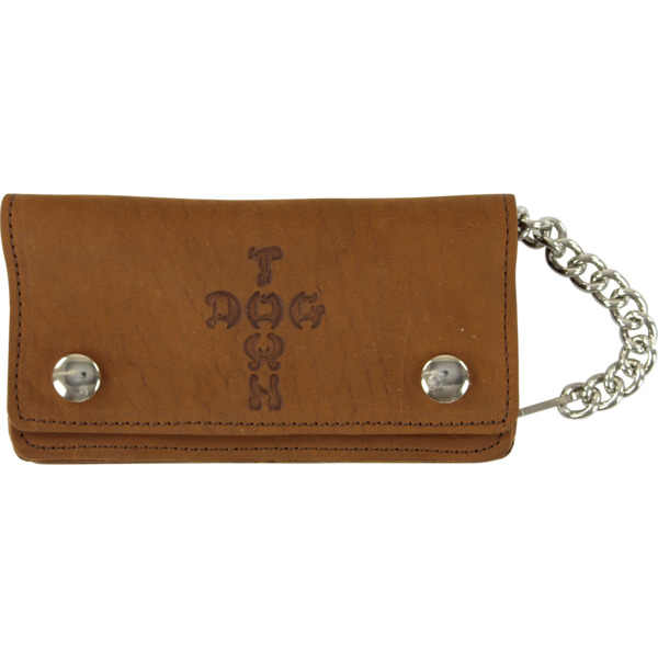 Dogtown Skateboards Cross Brown Leather Chain Wallet