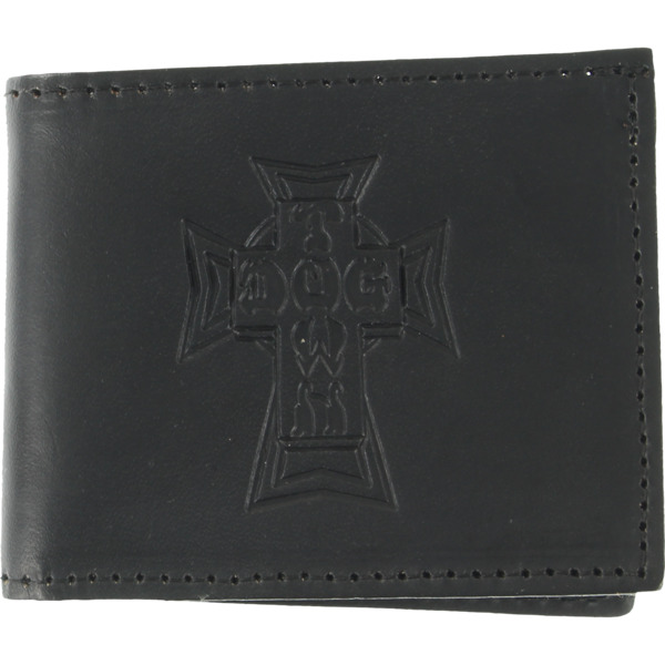 Dogtown Skateboards Bifold Black Leather Wallet