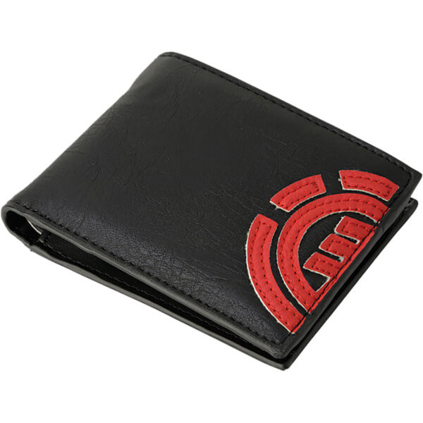 Element Skateboards Daily Black / Fire Red Wallet