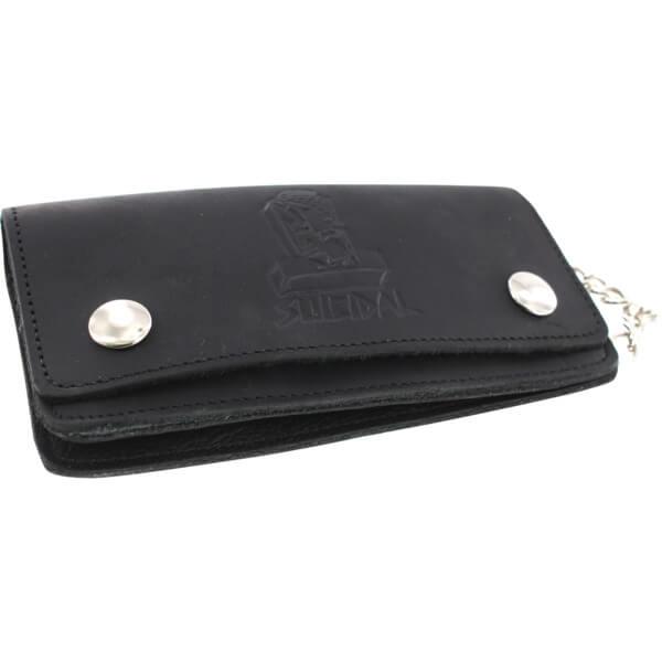 Suicidal Skates Logo Black Chain Leather Wallet