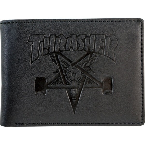 Thrasher Magazine Sk8 Goat Black Leather Wallet