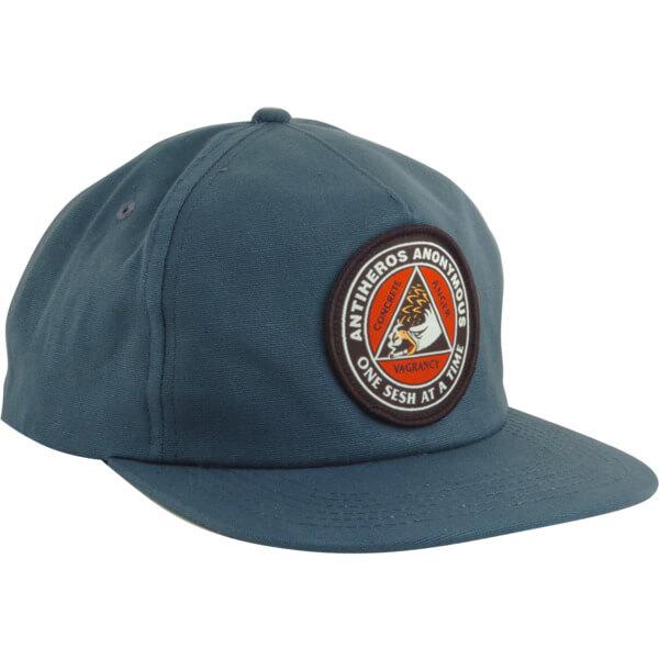 Anti Hero Skateboards AAH Patch Navy Snapback Hat - Adjustable