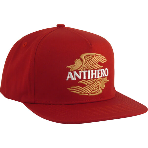 Anti Hero Skateboards AHXR Emblem Red Snapback Hat - Adjustable