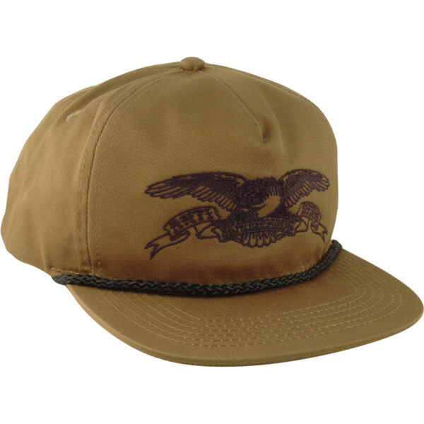 6507a7655529 Anti Hero Skateboards Basic Eagle Dark Olive / Black Snapback Hat -  Adjustable - Warehouse Skateboards