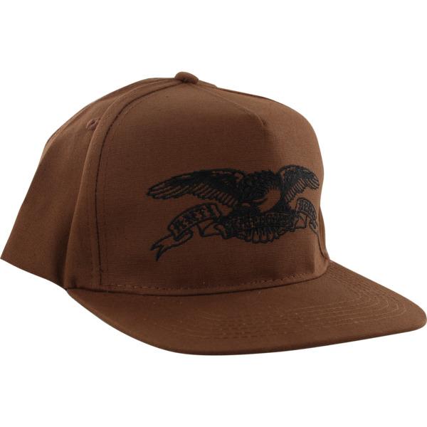 Anti Hero Skateboards Basic Eagle Brown / Black Hat - Adjustable