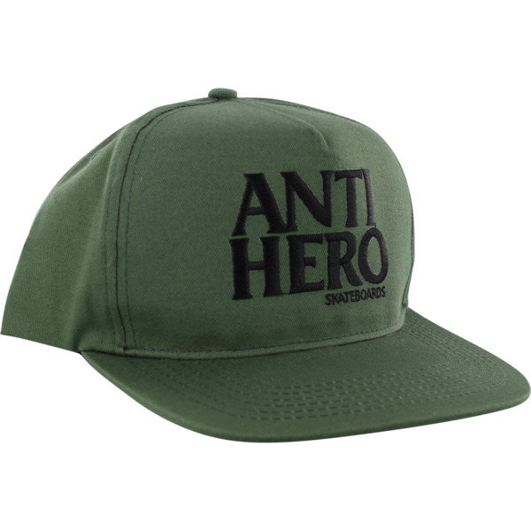 Anti Hero Skateboards Blackhero Dark Green / Black Hat - Adjustable