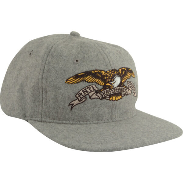 Anti Hero Skateboards Eagle Emblem Grey Hat - Adjustable