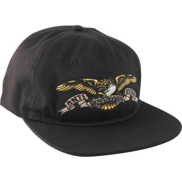cddbdc00e07f1 Anti Hero Skateboards Eagle Emblem Black Snapback Hat - Adjustable -  Warehouse Skateboards