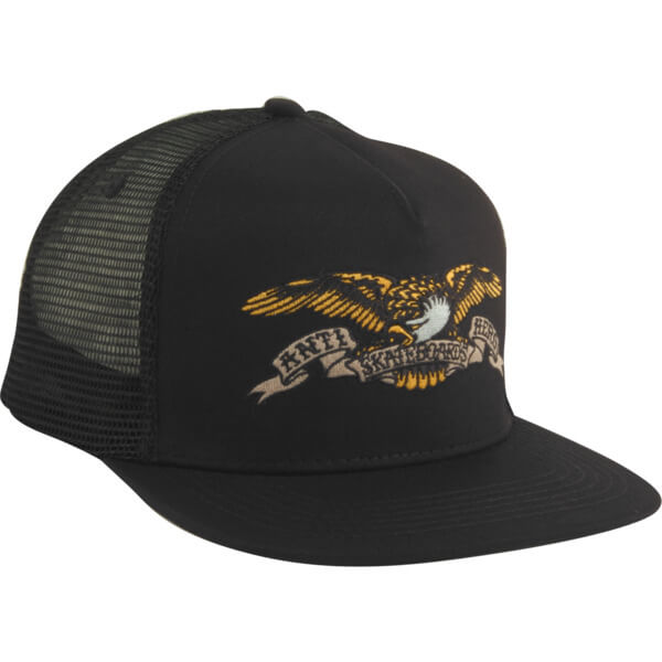 931abd60 Anti Hero Skateboards Eagle Emblem Black Mesh Trucker Hat - Adjustable -  Warehouse Skateboards