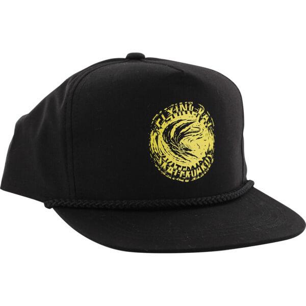 Anti Hero Skateboards Flying Rat Poplin Black Hat - Adjustable