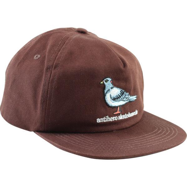 Anti Hero Skateboards Pigeon Emblem Dark Brown 5 Panel Hat - Adjustable