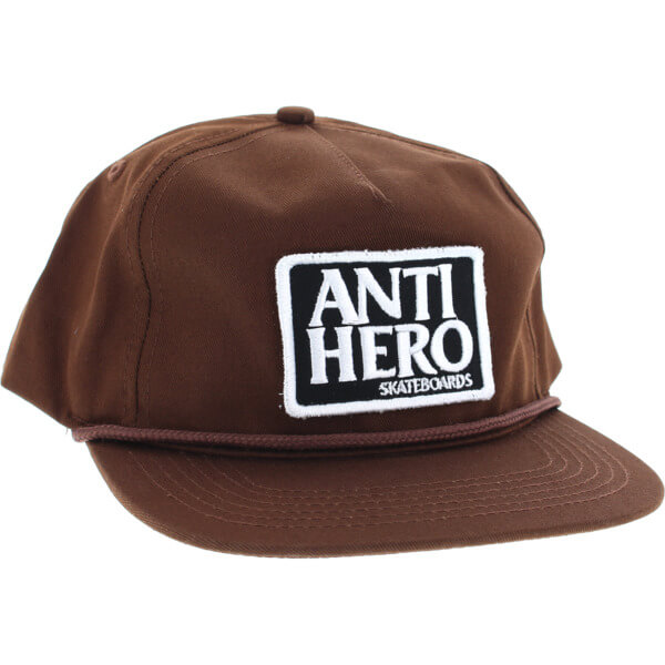 Anti Hero Skateboards Reserve Patch Brown Snapback Hat - Adjustable
