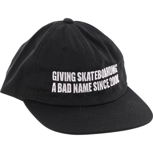 Baker Skateboards Bad Name Black 6 Panel Hat - Adjustable