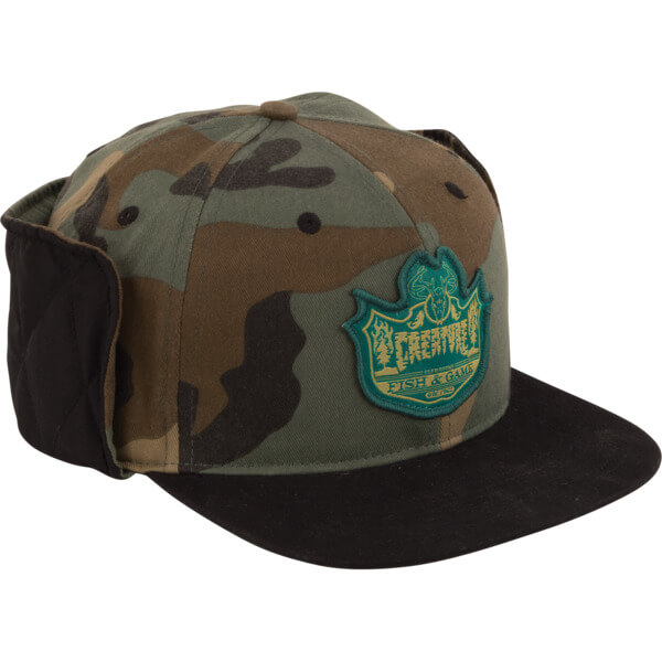 Creature Skateboards Bobber Camo / Black Fitted Hunting Hat - Large / X-Large