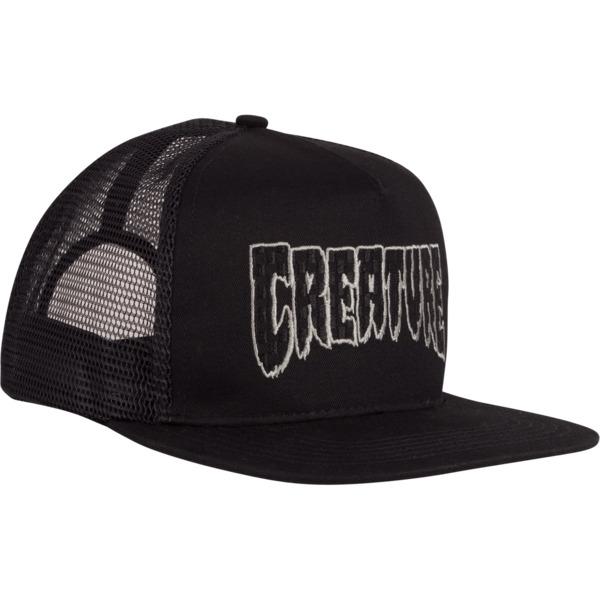 Creature Skateboards Logo Check Mesh Trucker Hat